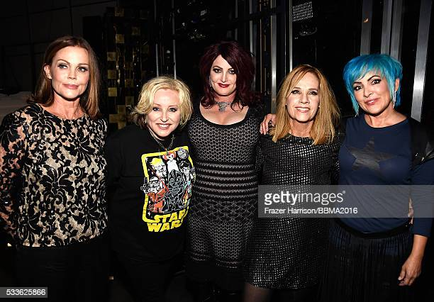 Recording artists Belinda Carlisle Gina Schock Abby Travis Charlotte Caffey and Jane Wiedlin of music group The GoGo's attend the 2016 Billboard...