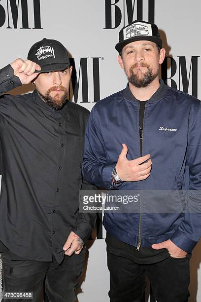 Recording artists Benji Madden and Joel Madden of Good Charlotte attend the 63rd Annual BMI Pop Awards held at the Beverly Wilshire Hotel on May 12...