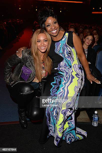 Recording artists Beyonce and Gladys Knight attend Stevie Wonder Songs In The Key Of Life An AllStar GRAMMY Salute at Nokia Theatre LA Live on...