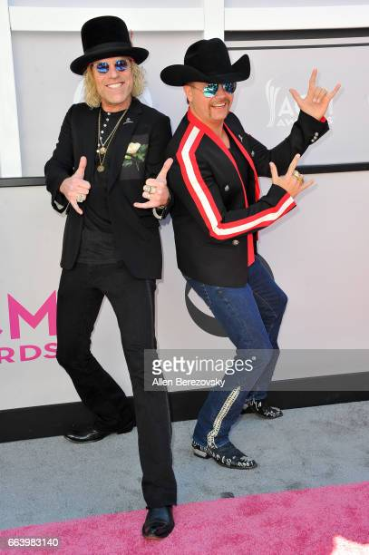 Recording artists Big Kenny and John Rich of music group Big Rich arrive at the 52nd Academy Of Country Music Awards on April 2 2017 in Las Vegas...