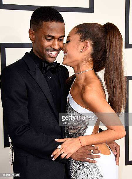Recording artists Big Seam and Ariana Grande attend The 57th Annual GRAMMY Awards at the STAPLES Center on February 8 2015 in Los Angeles California