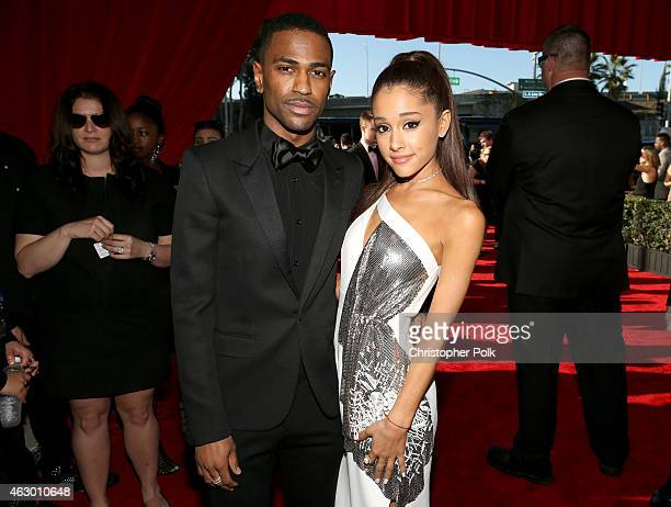 Recording artists Big Sean and Ariana Grande attend The 57th Annual GRAMMY Awards at the STAPLES Center on February 8 2015 in Los Angeles California