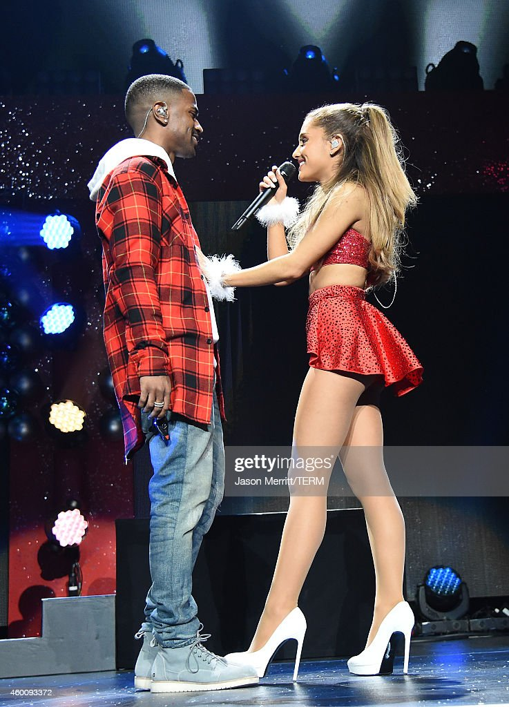 Recording artists Big Sean (L) and Ariana Grande perform onstage during KIIS FM's Jingle Ball 2014 powered by LINE at Staples Center on December 5, 2014 in