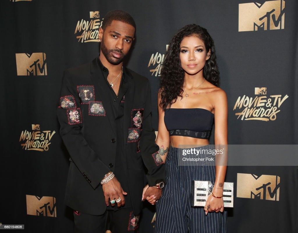 Recording artists Big Sean and Jhene Aiko attend the 2017 MTV Movie And TV Awards at The Shrine Auditorium on May 7, 2017 in Los Angeles, California.
