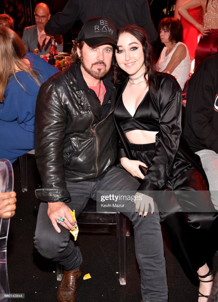Recording artists Billy Ray Cyrus (L) and Noah Cyrus attend the 2017 MTV Movie And TV Awards at The Shrine Auditorium on May 7, 2017 in Los Angeles, California.