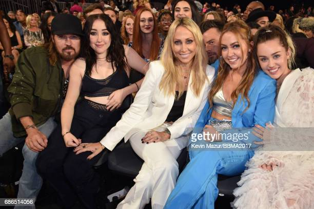 Recording artists Billy Ray Cyrus and Noah Cyrus Tish Cyrus Brandi Cyrus and recording artist Miley Cyrus attend the 2017 Billboard Music Awards at...