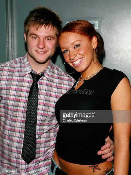 Recording artists Blake Lewis and Brianna Taylor pose for a photo before perform at the Canal Room on June 24 2008 in New York City