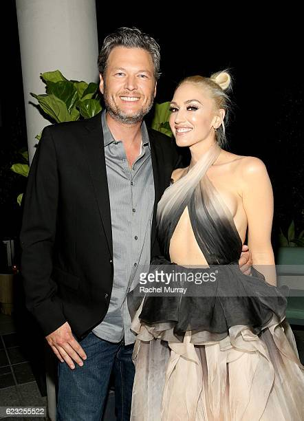 Recording artists Blake Shelton and Gwen Stefani attend Glamour Women of the Year 2016 Dinner at Paley on November 14 2016 in Hollywood California