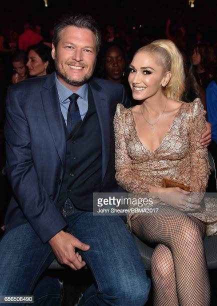 Recording artists Blake Shelton and Gwen Stefani attend the 2017 Billboard Music Awards at TMobile Arena on May 21 2017 in Las Vegas Nevada