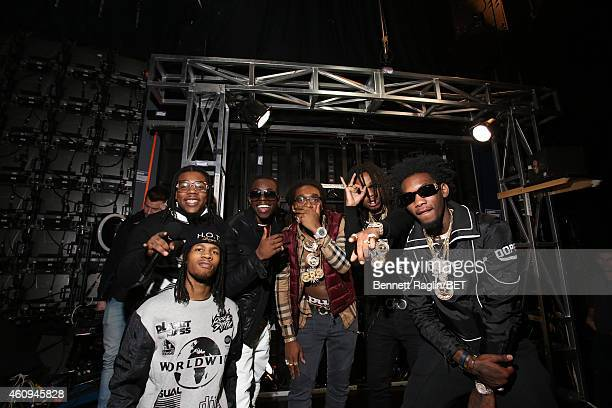Recording artists Bobby Shmurda and Migos attend 106 Party at BET studio on December 12 2014 in New York City