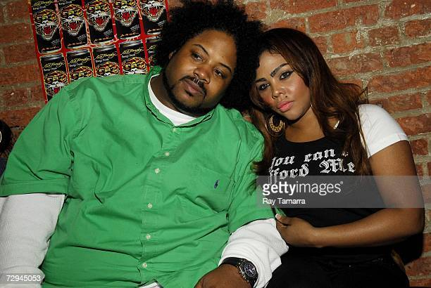 Recording artists Bone Crusher and Lil Kim appear at Hip Hop Weekly Magazine Launch Party at Home on January 07 2006 in New York City