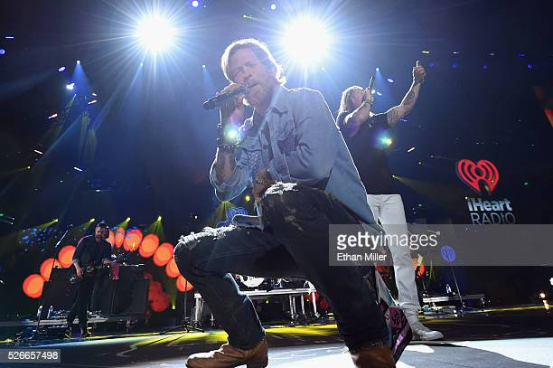 Recording artists Brian Kelley and Tyler Hubbard of Florida Georgia Line perform onstage during the 2016 iHeartCountry Festival at The Frank Erwin...