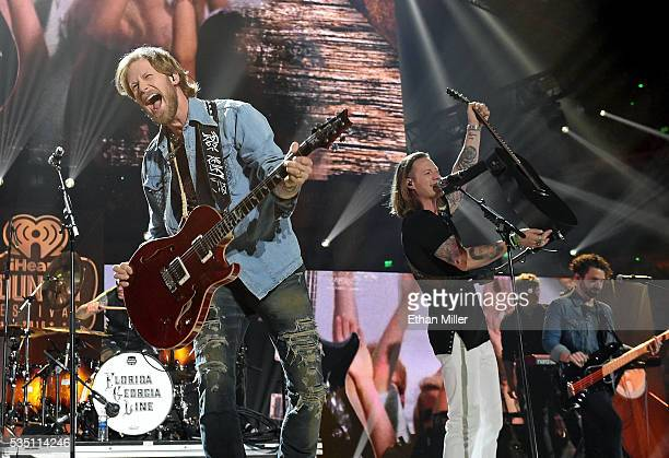 Recording artists Brian Kelley and Tyler Hubbard of Florida Georgia Line perform during the 2016 iHeartCountry Festival at The Frank Erwin Center on...