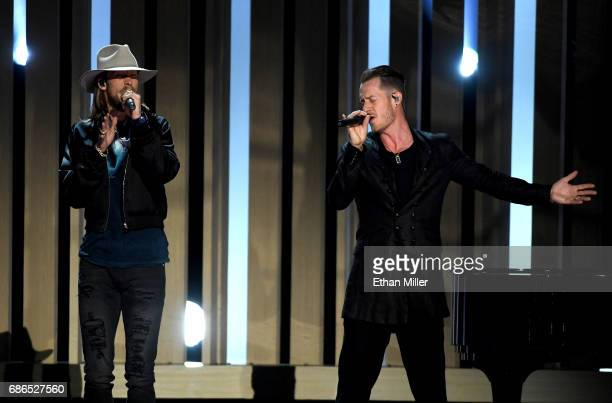 Recording artists Brian Kelley and Tyler Hubbard of Florida Georgia Line perform onstage during the 2017 Billboard Music Awards at TMobile Arena on...