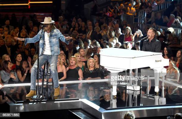 Recording artists Brian Kelley and Tyler Hubbard of music group Florida Georgia Line perform onstage during the 52nd Academy of Country Music Awards...