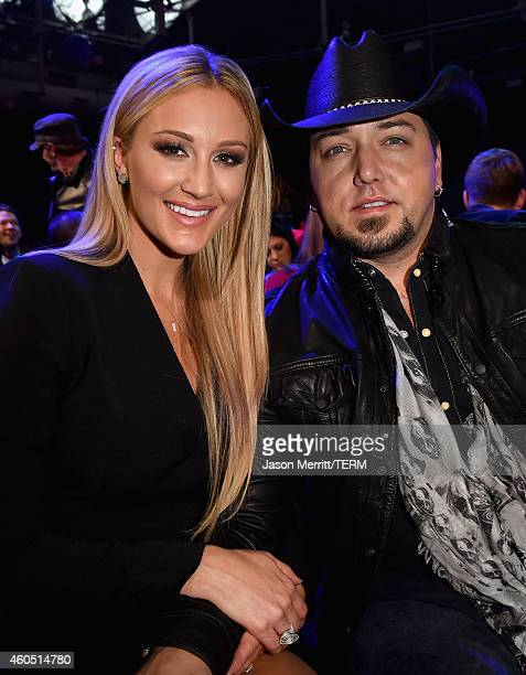 Recording artists Brittany Kerr and Jason Aldean attend the 2014 American Country Countdown Awards at Music City Center on December 15, 2014 in...
