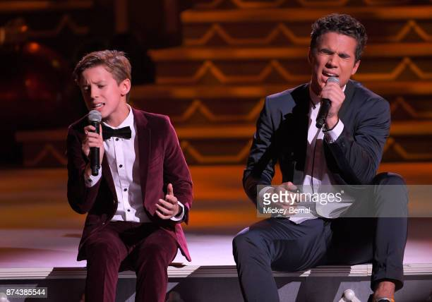 Recording artists Brody and Christian Clementi of CB30 perform during CMA 2017 Country Christmas at The Grand Ole Opry on November 14 2017 in...