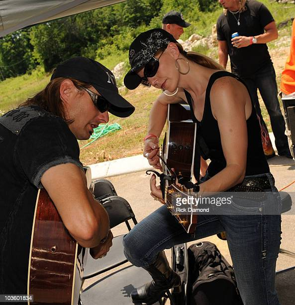 Recording Artists Brother and Sister Lee Roy and Elaine Roy are The Roys perform at the TJ Martel Little Big Town Ride for A Cure Being held during...