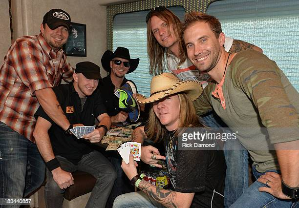 Recording Artists Bush Hawg backstage during the First Annual Delta Country Jam Day 2 on the Hollywood Casino back lot October 5 2013 in Tunica...