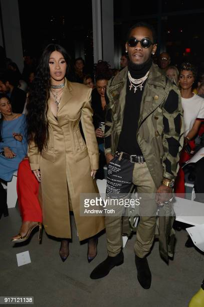 Recording artists Cardi B and Offset of the group Migos attend the Prabal Gurung front row during New York Fashion Week The Shows at Gallery I at...