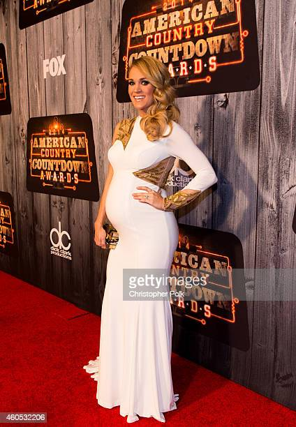 Recording artists Carrie Underwood attends the 2014 American Country Countdown Awards at Music City Center on December 15 2014 in Nashville Tennessee