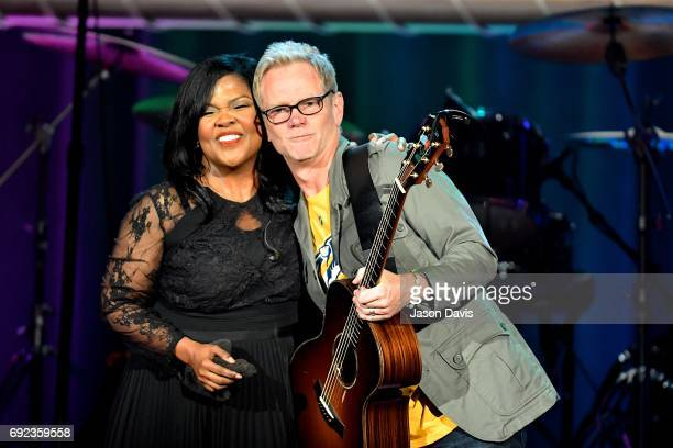 Recording Artists CeCe Winans and Steven Curtis Chapman perform onstage during Sam's Place Music For The Spirit at Ryman Auditorium on June 4 2017 in...