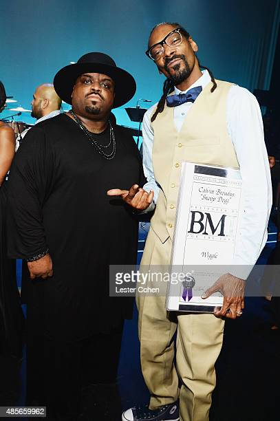 Recording artists Cee Lo Green and Snoop Dogg attend the 2015 BMI RB/HipHop Awards at Saban Theatre on August 28 2015 in Beverly Hills California