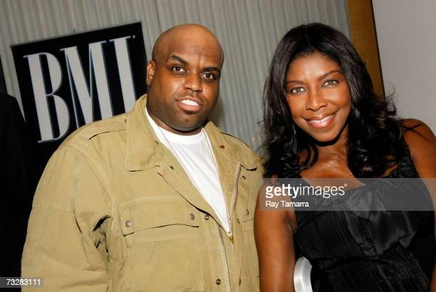 Recording artists Ceelo Green and Natalie Cole attend BMI's PreGrammy Party at the Mondrian Hotel February 09 2007 in Los Angeles California