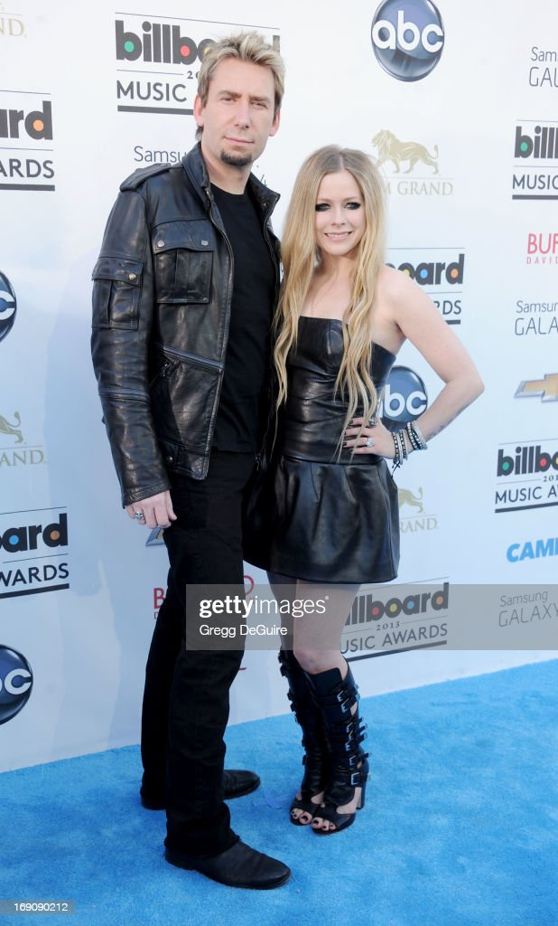 Recording artist's Chad Kroeger and Avril Lavigne arrive at the 2013 Billboard Music Awards at MGM Grand Garden Arena on May 19, 2013 in Las Vegas, Nevada.