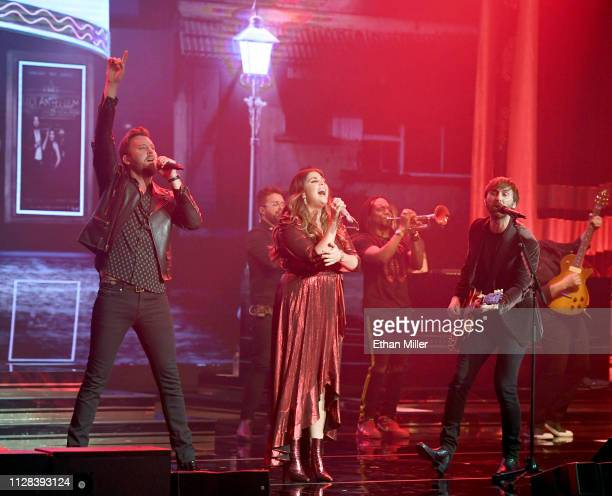 Recording artists Charles Kelley Hillary Scott and Dave Haywood of Lady Antebellum perform as the band kicks off its 15show residency Our Kind of...
