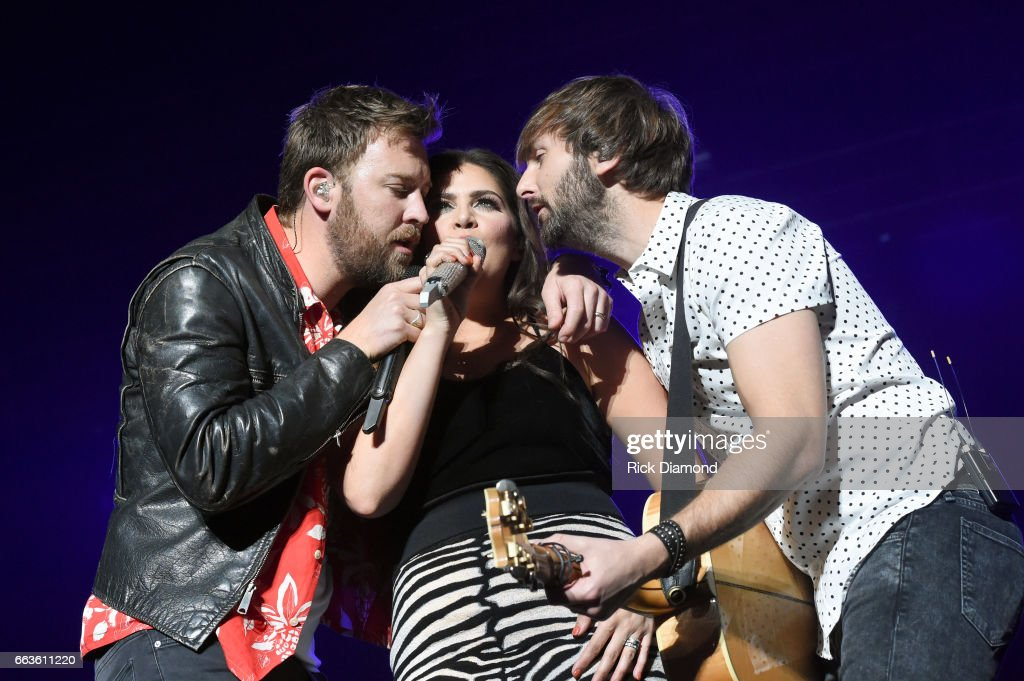 Recording artists Charles Kelley, Hillary Scott and Dave Haywood of Lady Antebellum perform onstage during the ACM Party For A Cause: The Joint at The Joint inside the Hard Rock Hotel & Casino on April 1, 2017 in Las Vegas, Nevada.