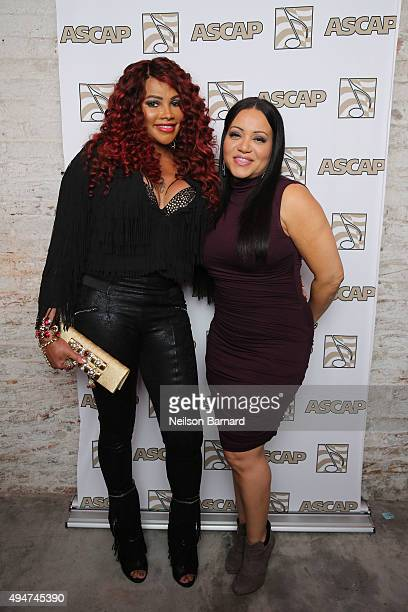Recording artists Cheryl 'Salt' James and Sandra 'Pepa' Denton of SaltNPepa attend the ASCAP 'Women Behind the Music' party honoring rap trailblazers...