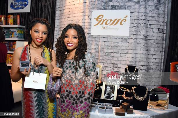 Recording artists Chloe Bailey and Halle Bailey and attend GRAMMY Gift Lounge during the 59th GRAMMY Awards at STAPLES Center on February 10, 2017 in...