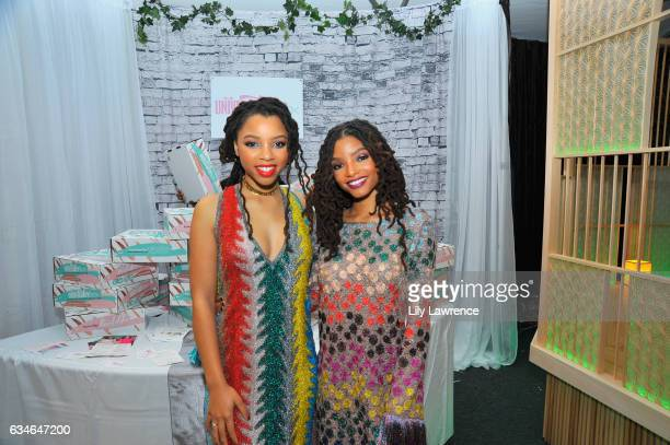 Recording artists Chloe Bailey and Halle Bailey attend GRAMMY Gift Lounge during the 59th GRAMMY Awards at STAPLES Center on February 10, 2017 in Los...