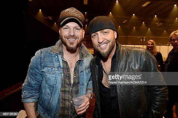 Recording artists Chris Lucas and Preston Brust of music group LoCash Cowboys attend the 49th Annual Academy of Country Music Awards All Star Jam at...