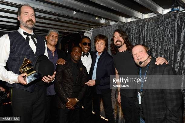Recording artists Chris Novoselic and Pat Smear, actor Kevin Hart, and musicians Charlie Wilson, Paul McCartney and Dave Grohl and producer Kenneth...