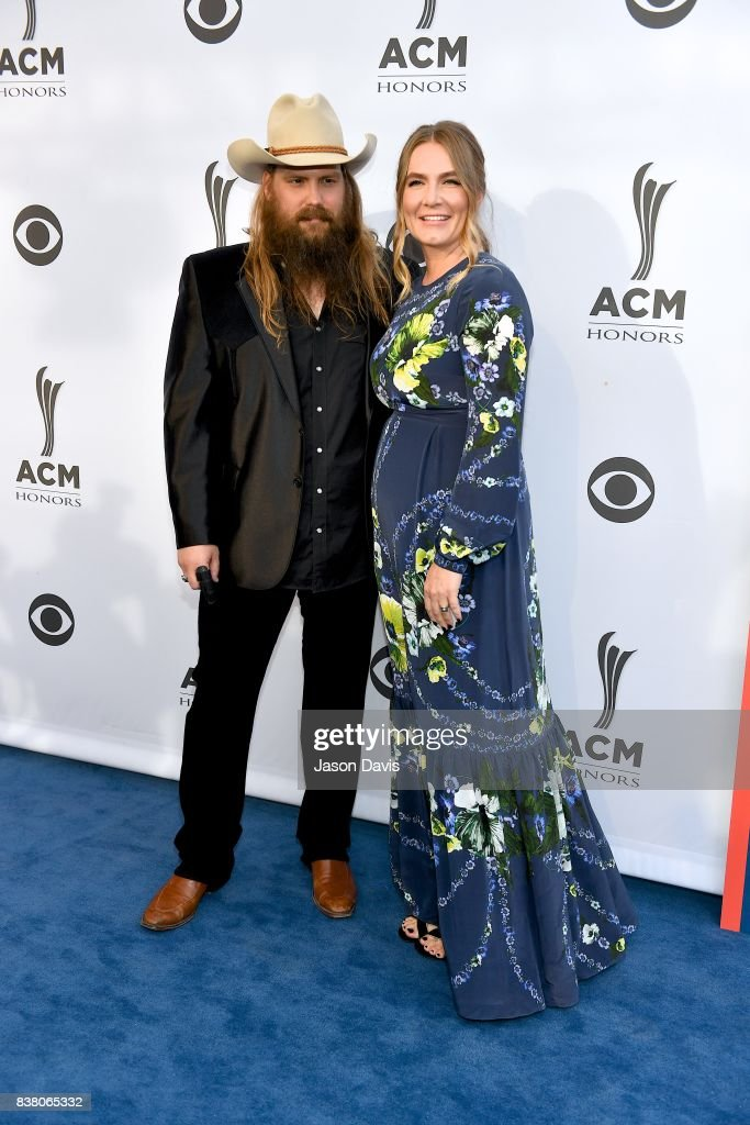 Recording Artists Chris Stapleton and wife Morgane Stapleton arrive at the 11th Annual ACM Honors at Ryman Auditorium on August 23, 2017 in Nashville, Tennessee.
