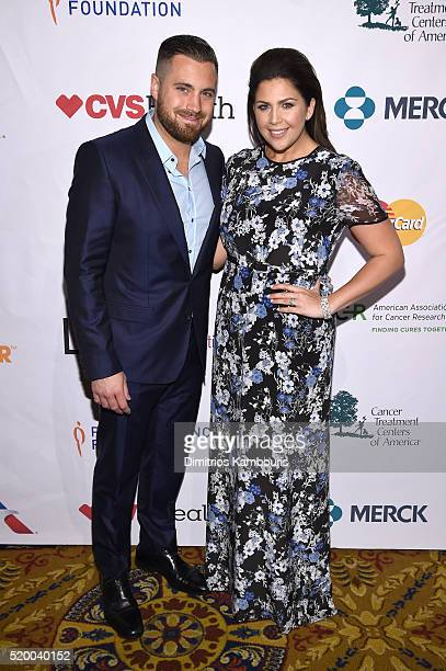 Recording artists Chris Tyrrell and Hillary Scott of Lady Antebellum attend Stand Up To Cancer's New York Standing Room Only presented by...