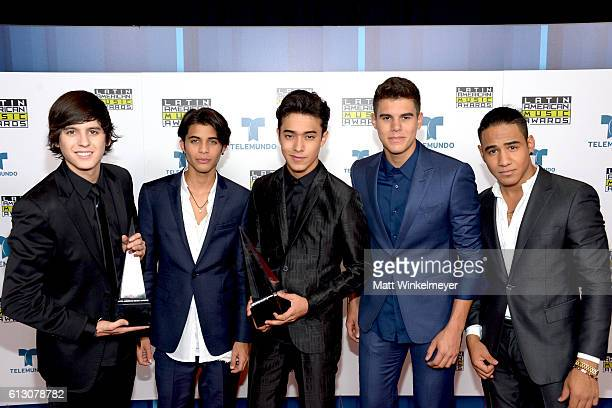 Recording artists Christopher Velez Erick Brian Colon Joel Pimentel Zabdiel De Jesus and Richard Camacho of CNCO winners for New Artist of the Year...
