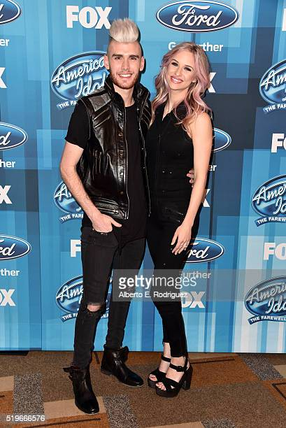 Recording artists Colton Dixon and Annie Coggeshall attend FOX's American Idol Finale For The Farewell Season at Dolby Theatre on April 7 2016 in...