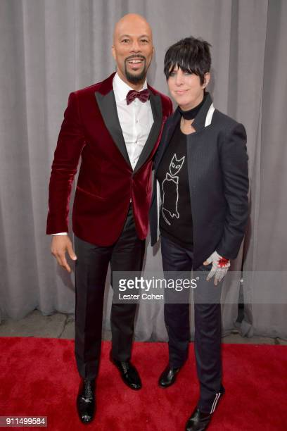 Recording artists Common and Diane Warren attend the 60th Annual GRAMMY Awards at Madison Square Garden on January 28 2018 in New York City