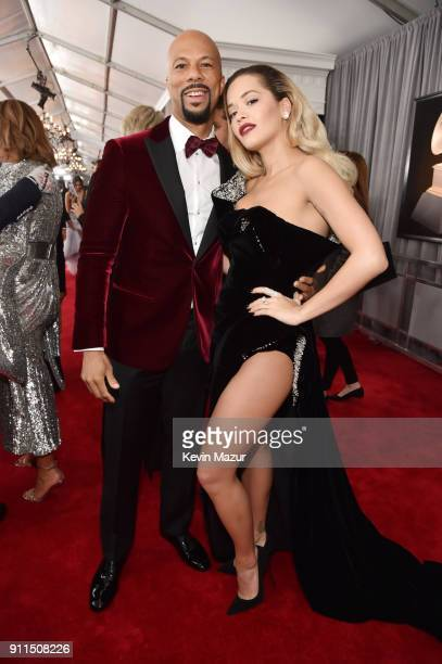 Recording artists Common and Rita Ora attend the 60th Annual GRAMMY Awards at Madison Square Garden on January 28 2018 in New York City