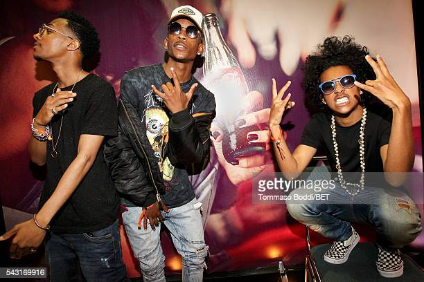 Recording artists Craig Crippen EJ and Princeton of Mindless Behavior attend the Coke music studio during the 2016 BET Experience on June 26 2016 in...