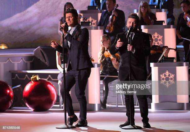 Recording artists Dan Smyer and Shay Mooney of Dan Shay perform during CMA 2017 Country Christmas at The Grand Ole Opry on November 14 2017 in...
