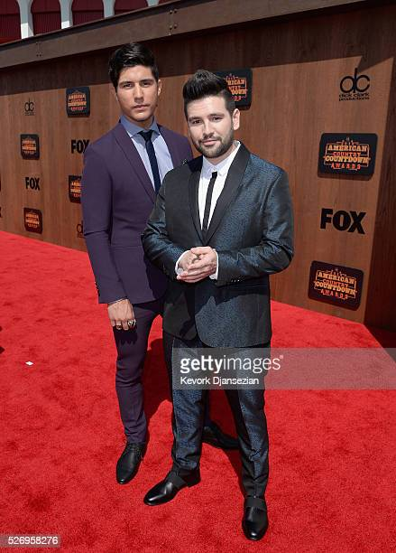 Recording artists Dan Smyers Shay Mooney attend the 2016 American Country Countdown Awards at The Forum on May 1 2016 in Inglewood California