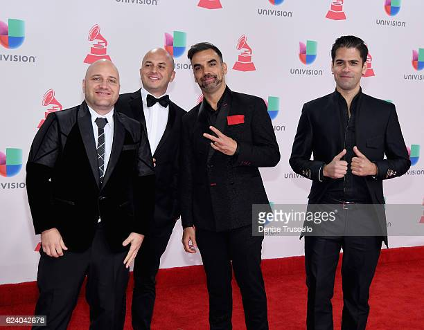"Recording artists Dario Adames Miguel Ángel González Asier Cazalisand Pavel 'El Ruso"" Tello of Caramelos de Cianuro attend The 17th Annual Latin..."