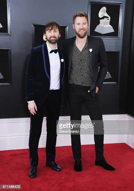 Recording artists Dave Haywood and Charles Kelley of Lady Antebellum attend the 60th Annual GRAMMY Awards at Madison Square Garden on January 28 2018...