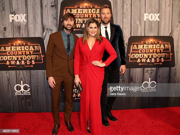 Recording artists Dave Haywood Hillary Scott and Charles Kelley of music group Lady Antebellum attend the 2014 American Country Countdown Awards at...