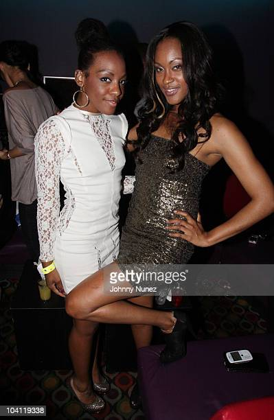 Recording artists Dawn Richard of Dirty Money and Shontelle attend YRB Magazine's Fall Fashion Issue release party at Carnival at Bowlmor Lanes on...