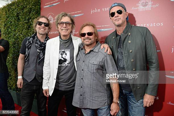 Recording artists Daxx Nielsen and Tom Petersson of Cheap Trick Michael Anthony and Chad Smith attend the John Varvatos 13th Annual Stuart House...